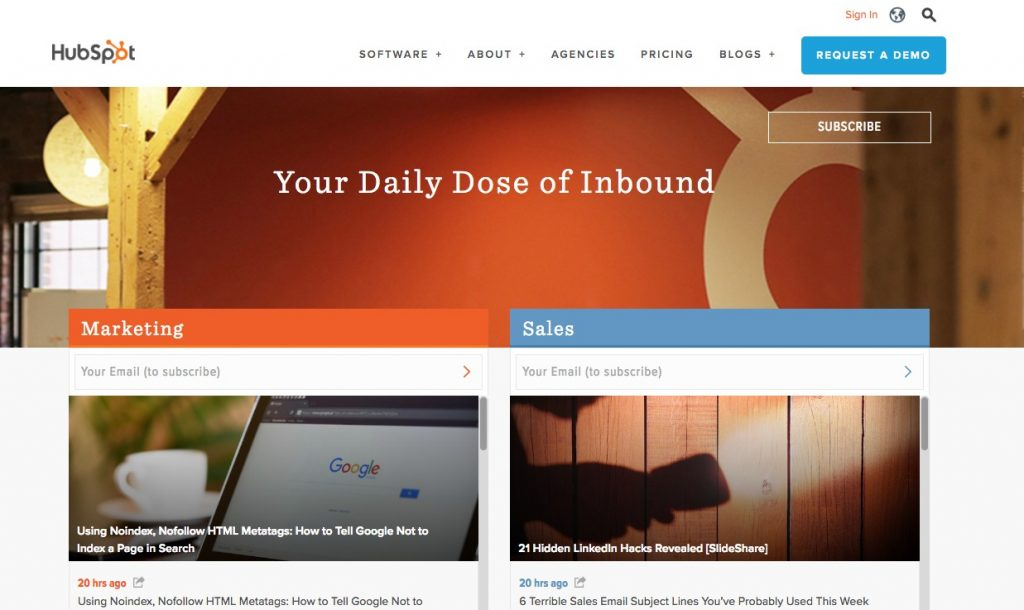 hubspot inbound marketing blog
