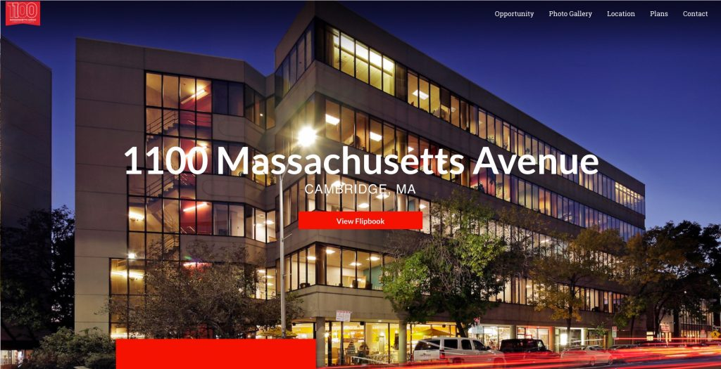 1100 Massachusetts Avenue Office Property Website
