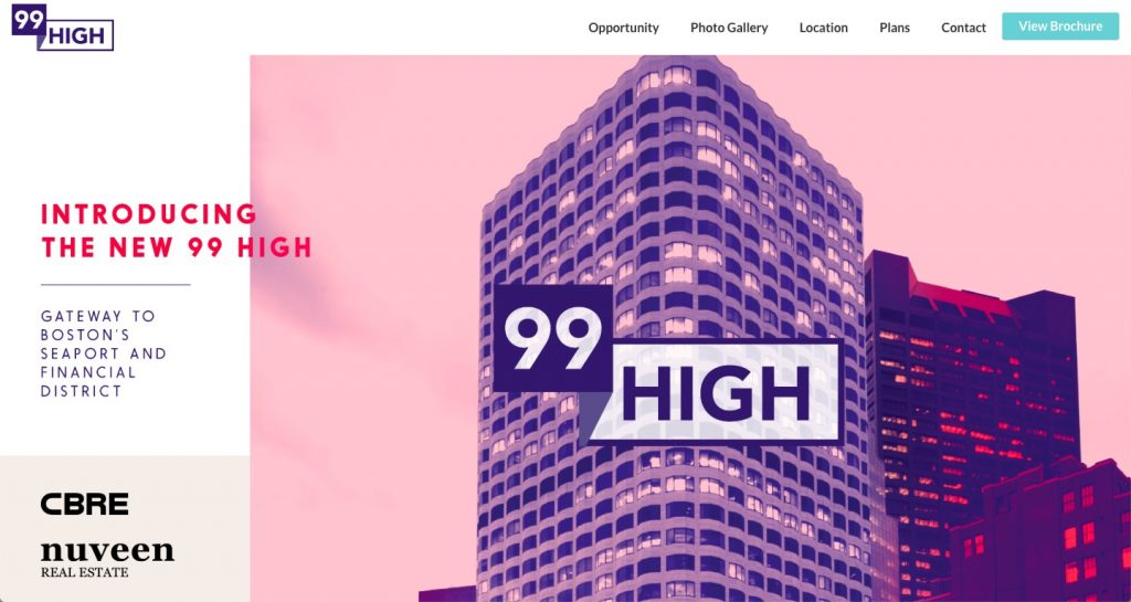 99 High Boston office property website