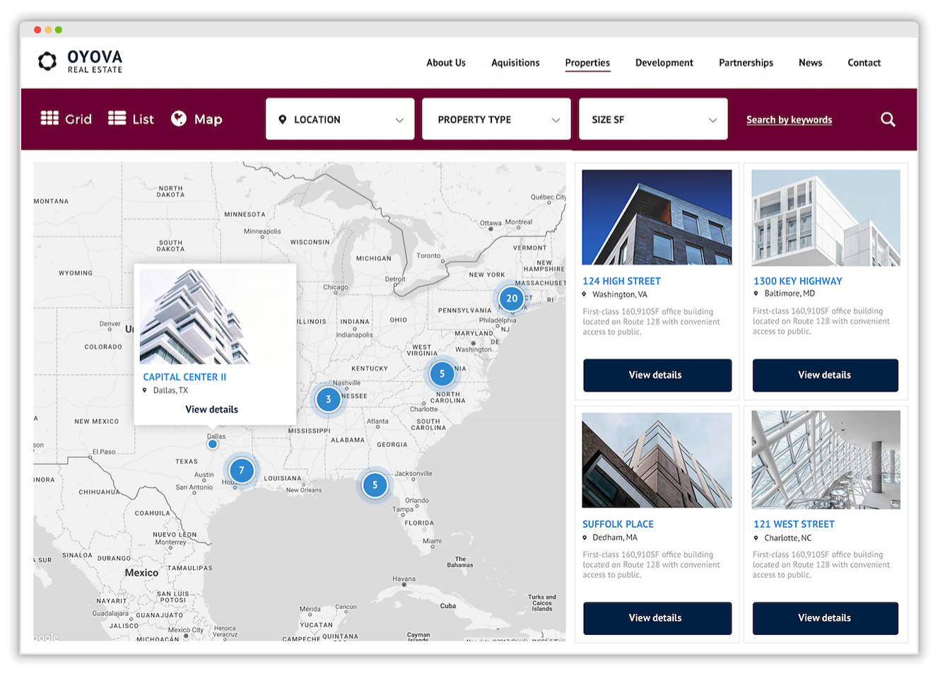 Commercial Property Search Engine