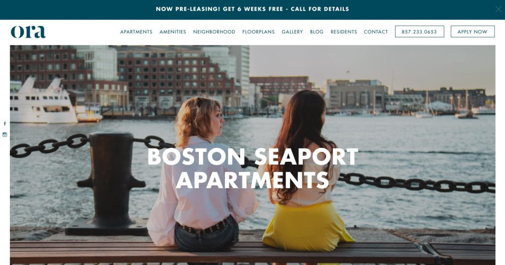 Ora Seaport residential property website