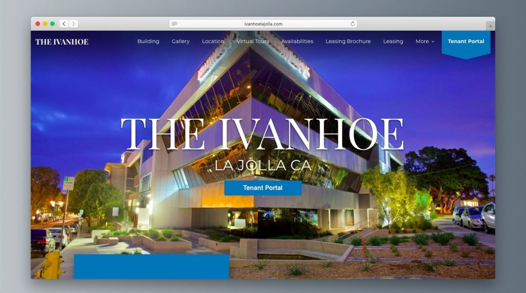 The Ivanhoe La Jolla Office Property Website