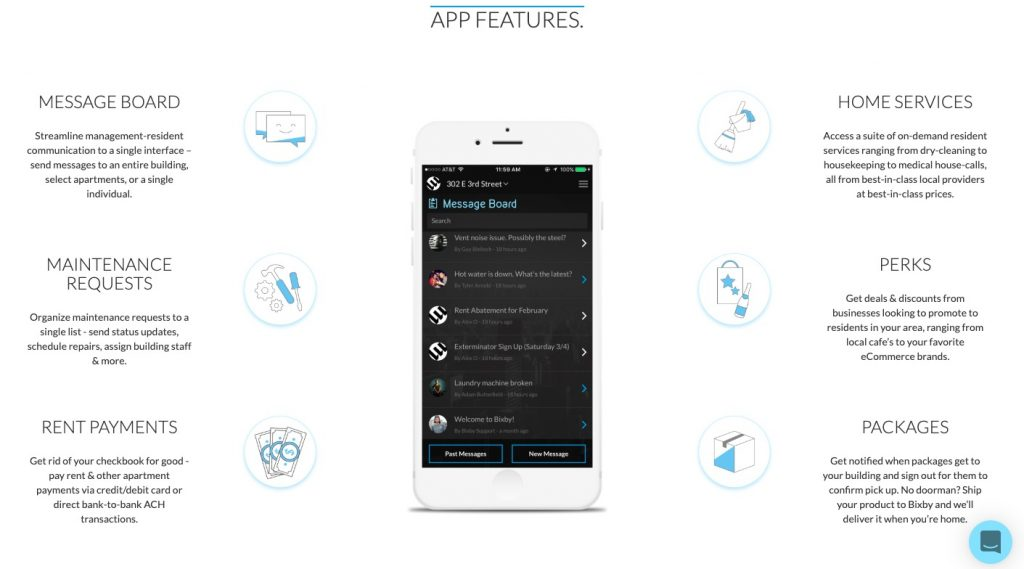 Bixby commercial real estate tenant experience app