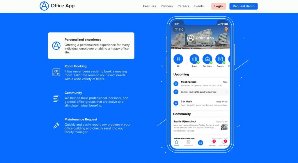 Office App commercial real estate tenant experience app