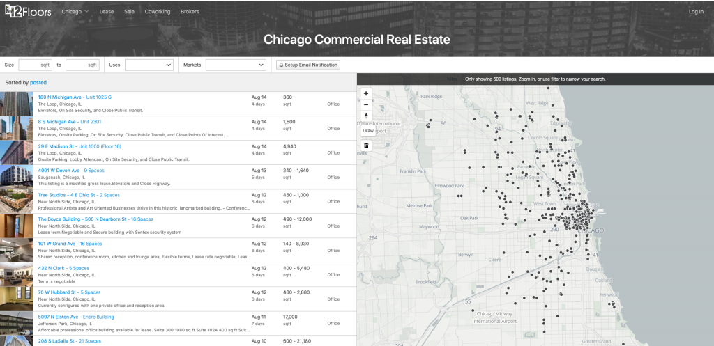 42Floors Commercial Real Estate Listing Site