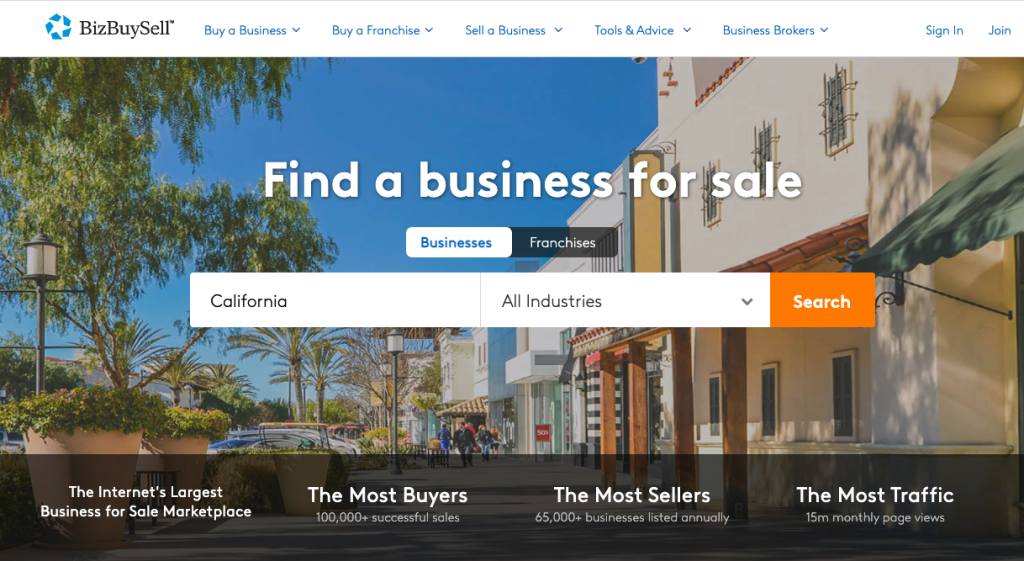 BizBuySell Business Listing Site