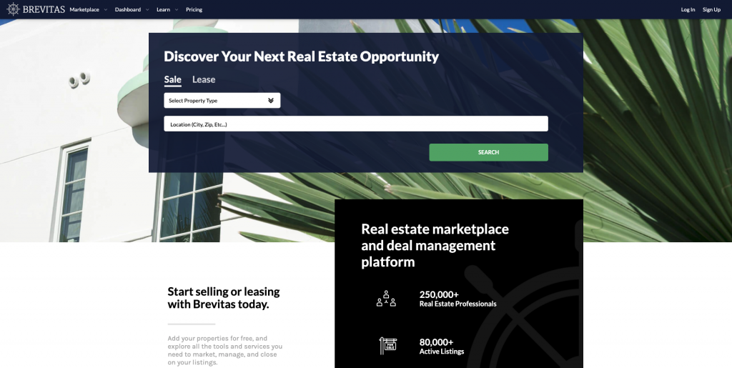 Brevitas Commercial Real Estate Listing Site
