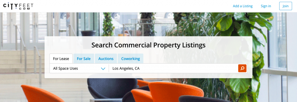 City Feet Commercial Real Estate Listing Site