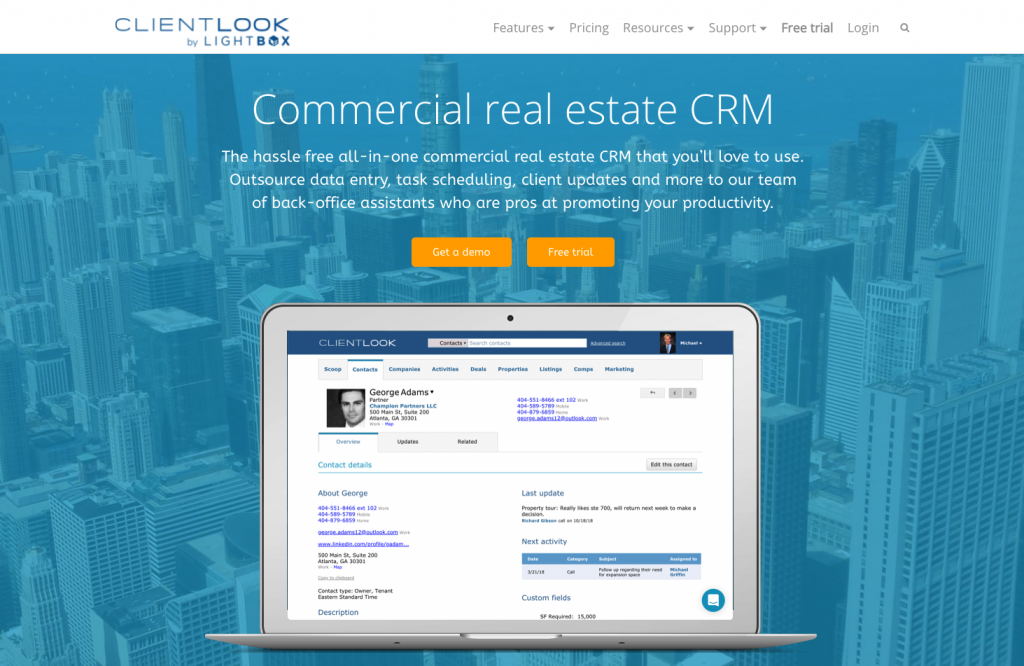 Clientlook commercial real estate CRM