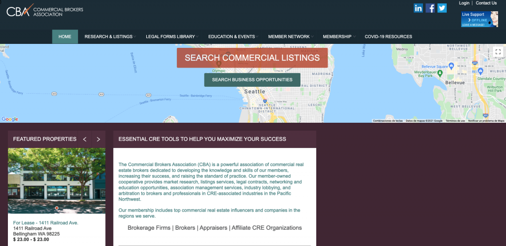 CommercialMLS Commercial Real Estate Listing Site