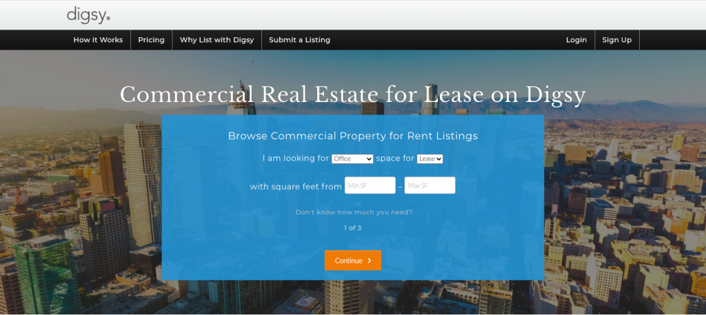 Digsy Commercial Real Estate Listing Site