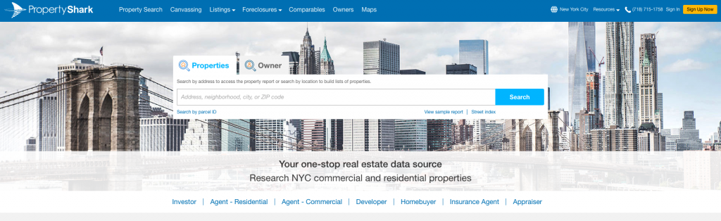 PropertyShark Commercial Real Estate Listing Site