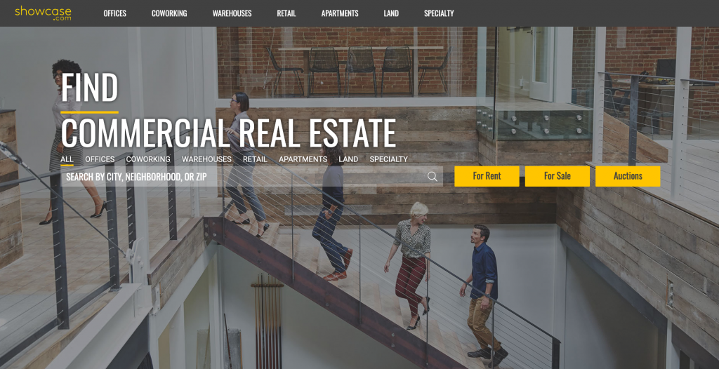 Showcase Commercial Real Estate Listing Site