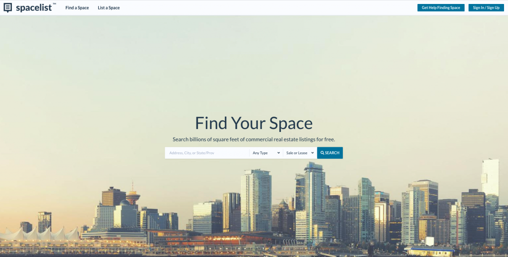 Spacelist Commercial Real Estate Listing Site