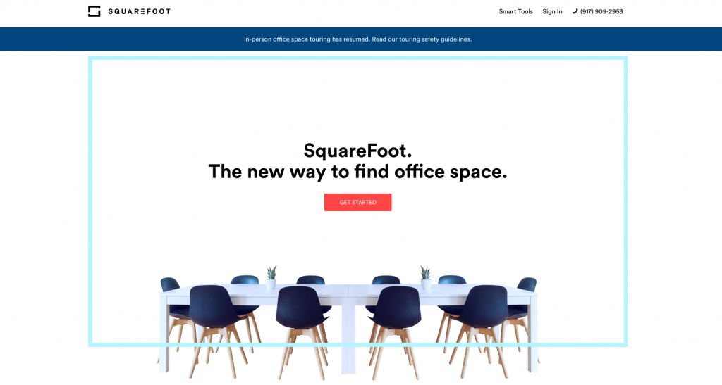 SquareFoot Commercial Real Estate Listing Site