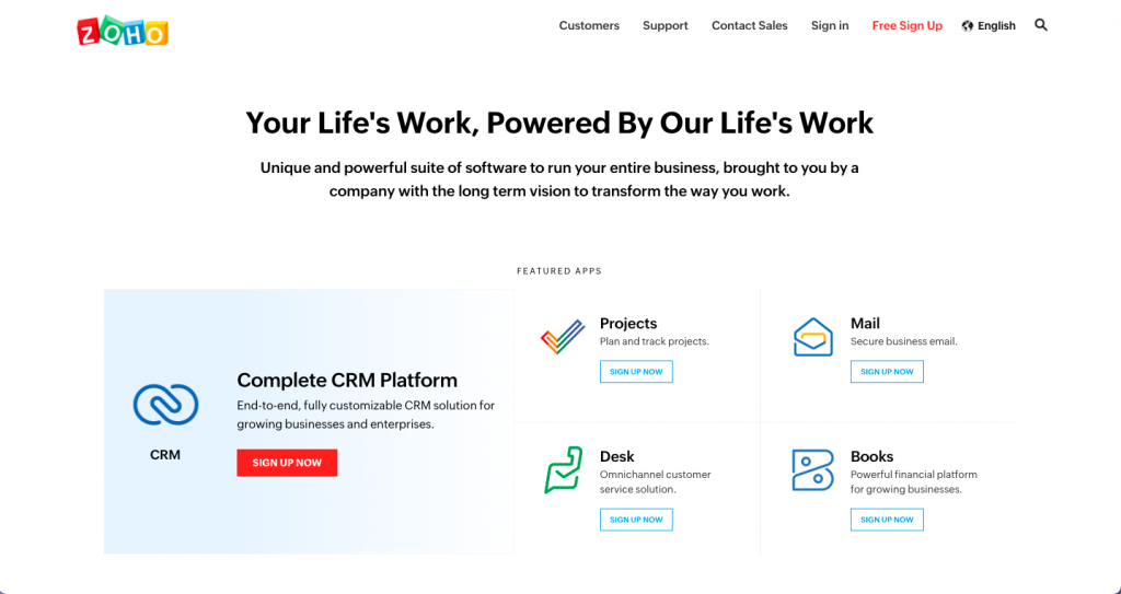 Zoho Commercial Real Estate CRM